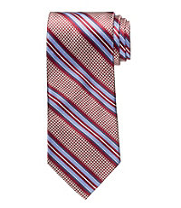 Signature Houndstooth Multi Stripe Tie