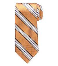 Signature Satin Tan Stripe Tie