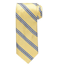 Signature Trapped Stripe on Check Tie