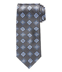 Signature Squares on Houndstooth Long Tie