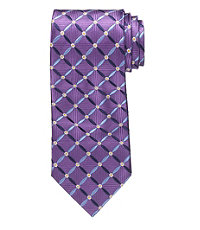 Signature Petal Grid Long Tie