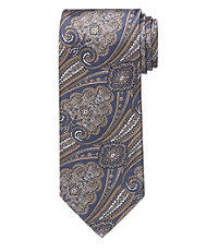 Signature Large Tapestry on Text Long Tie