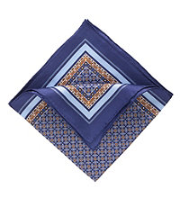 Blue Medallion Pocket Square