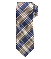 "Executive Plaid 61"" Long Tie"