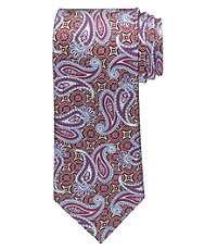 Signature Gold Tossed Paisley on Medallion Tie