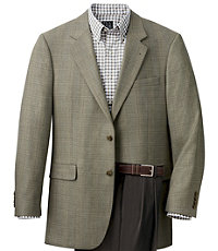 Signature 2-Button Wool Patterned Big/Tall Sportcoat
