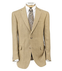 Tropical Blend 2-Button Linen/Silk Tailored Fit Sportcoat Extended Sizes