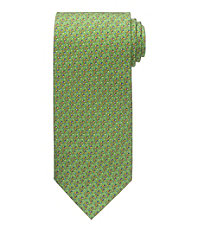 Conversational Patterned Golf Clubs Tie