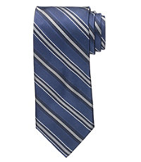 Signature Navy Charcoal Stripe Tie
