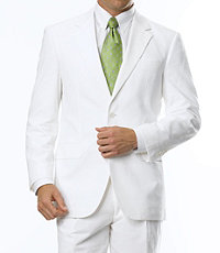 Stays Cool 2-Button Tailored Fit Suit w/Front Trousers