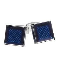 Blue Micro Dot Square Cufflink