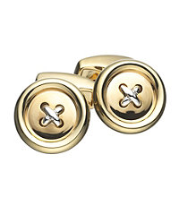 Gold and Silver Button Cufflink.