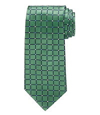 Grid with Dots Tie