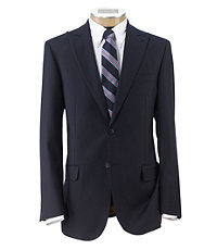 Joseph Slim Fit 2-Button Suits with Plain Front Trousers- Navy