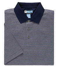 David Leadbetter Stays Cool Pattern Polo Big/Tall