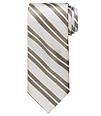 Signature Satin Wide Stripe Tie
