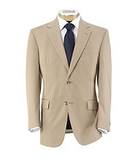 Tropical Blend 2 Button Tailored Fit Suit with Plain Front Trousers