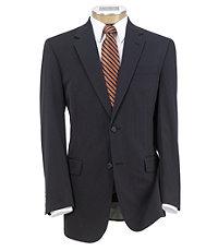 Tailored Fit Tropical Blend 2-Button Suit Plain Front Trousers