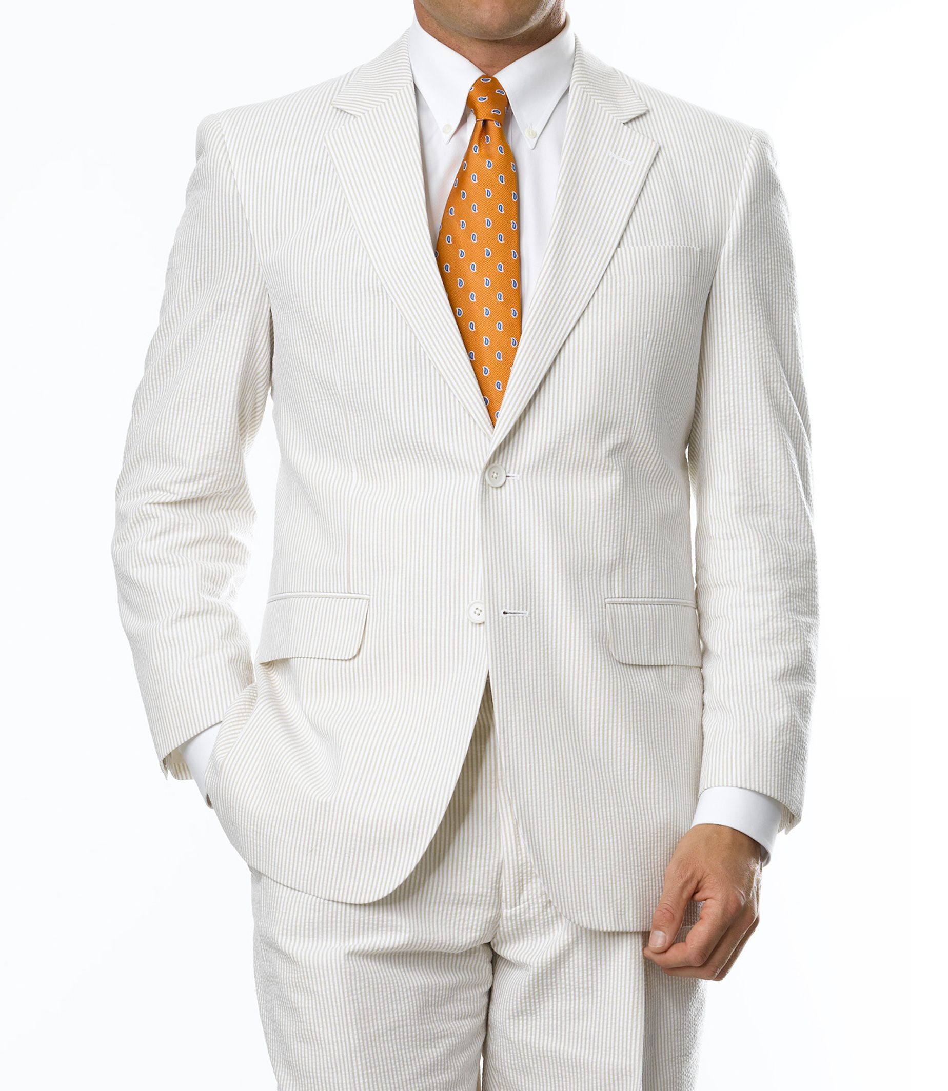 2-Button Seersucker Tailored Fit Suit