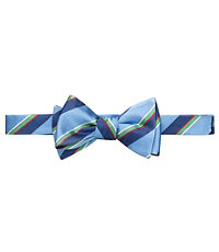 Multi Repp Stripe Bow Tie