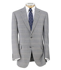 Signature 2-Button Silk/Wool Patterned Sportcoat Extended Sizes