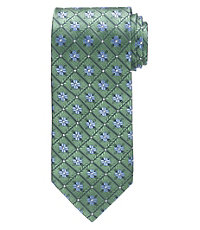 Executive Grid with Flowers Tie