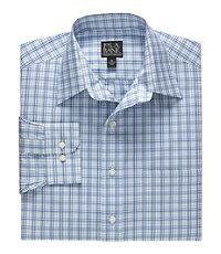 Traveler Long-Sleeve Point Collar Pattern Sportshirt