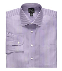 Traveler Slim Fit Long-Sleeve Spread Collar Dress Shirt
