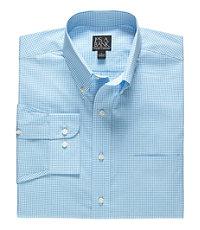 Traveler Long Sleeve Button Down Collar Sportshirt