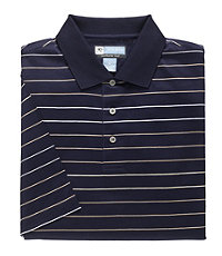 David Leadbetter Stays Cool Wide Multi Stripe Polo