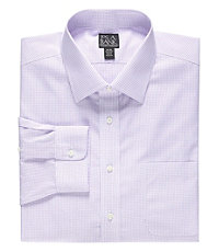 Traveler Tailored Fit Spread Collar Pattern Dress Shirt