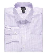 Traveler Tailored Fit Spread Collar Pattern Dress Shirt