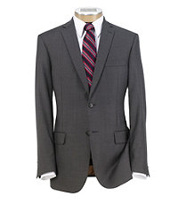 Joseph Slim Fit 2 Button Plain Front Wool Suit- Grey Mini Houndstooth