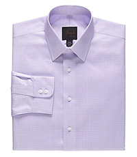 Joseph Spread Collar Slim Fit Plaid Dress Shirt