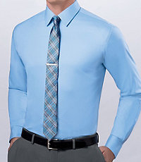 Joseph Spread Collar Slim Fit Solid Dress Shirt