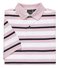 Traveler Short Sleeve Stripe Polo Big and Tall