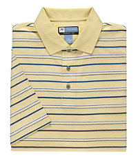 David Leadbetter Stays Cool Multi Stripe Polo