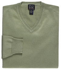 Signature Pima Cotton V-Neck Sweater Big/Tall