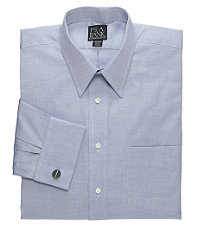 Pinpoint Oxford Point Collar French Cuff Dress Shirt