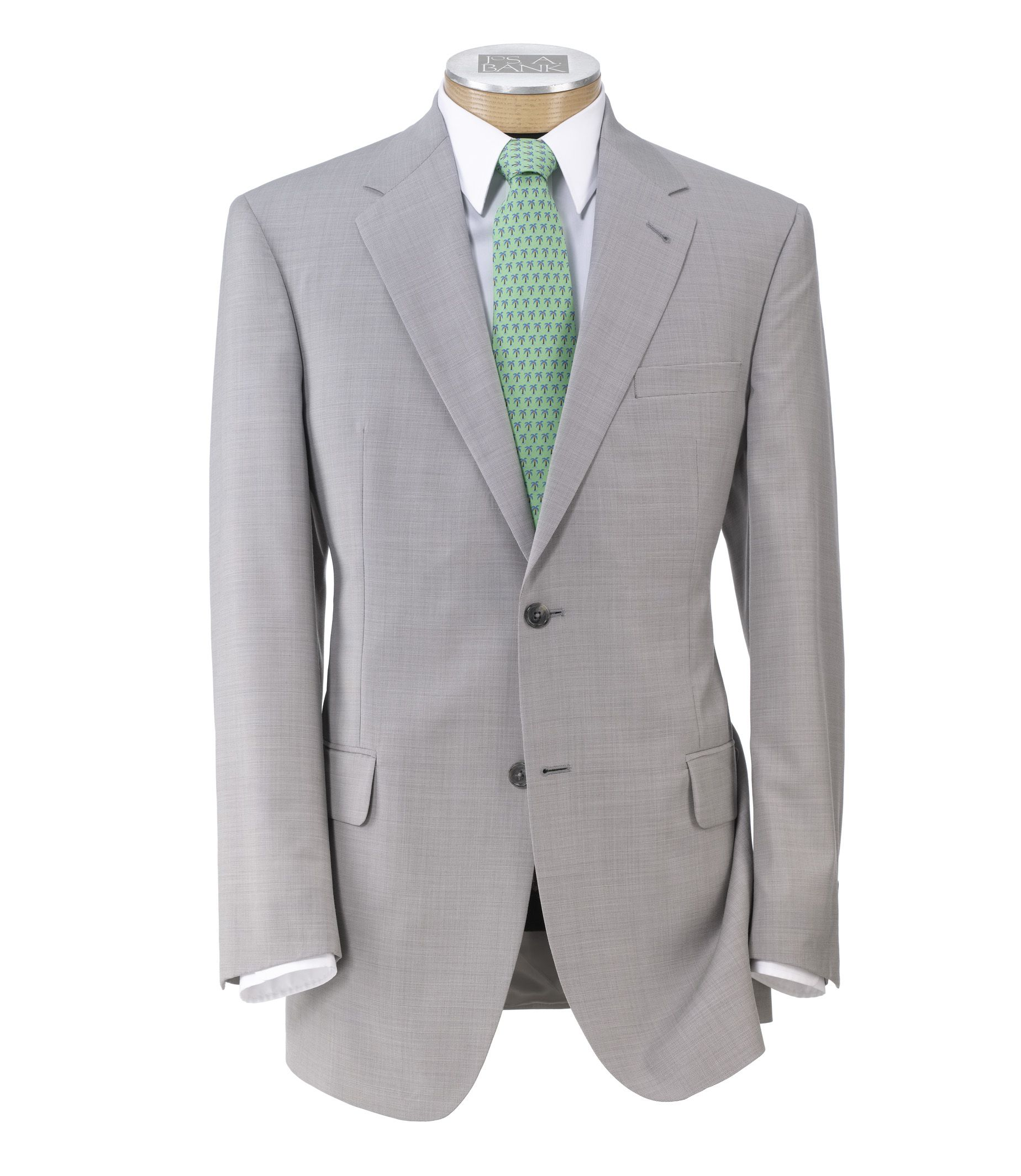 Signature Tropical 2Btn Tailored Fit Suit w/Plain Trousers - Extended Sizes