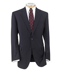 Executive 2-Button Wool Suit Plain Front Trousers