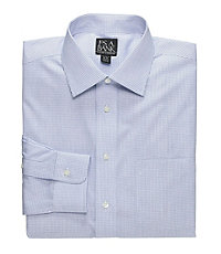 Traveler Slim Fit Long-Sleeve Point Collar Dress Shirt