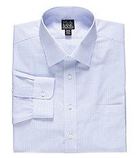 Traveler Spread Collar Check Dress Shirt