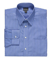 Traveler Point Collar Stripe Dress Shirt