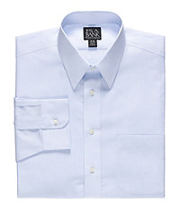 Traveler Point Collar Mini Check Dress Shirt