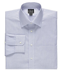 Traveler Spread Collar Micro Dot Stripe Dress Shirt