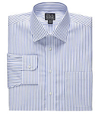 Traveler Spread Collar Stripe Dress Shirt