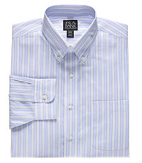 Traveler Tailored Fit Point Collar Pattern Dress Shirt