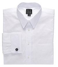 Pinpoint Oxford Point Collar French Cuff Dress Shirt Big or Tall