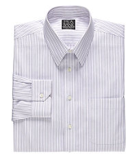 Signature Wrinkle-Free Point Collar Tailored Fit Dress Shirt